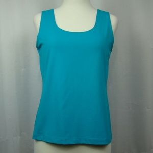 Chico's women's blue tank top solid size 1